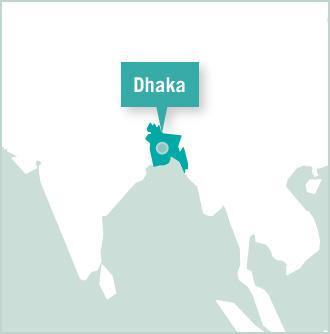 Bangladés Map