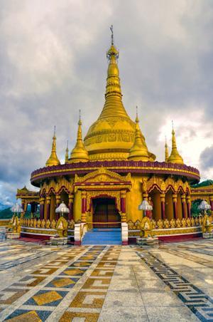 Un hermoso templo hindú en Bangladés