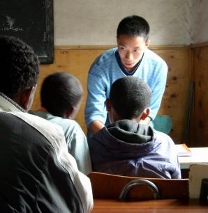 Voluntario en proyecto de Educación en Etiopía