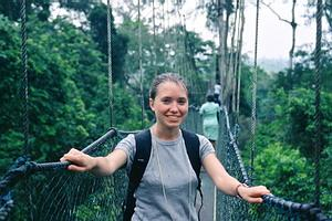 Katie at Kakum
