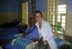 Medical volunteer in India