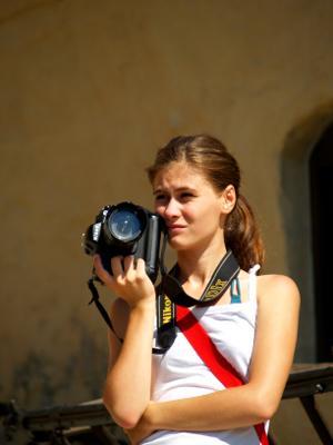 Journalism interns in Romania