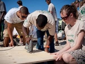Voluntarios de Projects Abroad en Sudáfrica participando en el Proyecto de Construcción