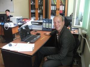 Interno de negocios en su lugar de trabajo en Mongolia