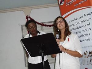 Charla en el proyecto para personas con VIH/Sida en Jamaica