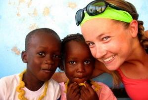 Volunteer and childrens