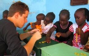 Volunteer working with childrens