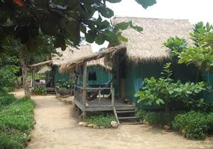Imagen de uno de los búngalos del proyecto de Conservación en Camboya.