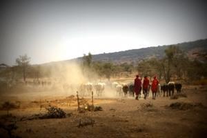 Pueblo masái en Tanzania
