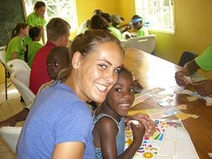 Volunteer giving disaster workshop