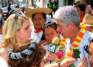 Journalism radio interview in Mexico