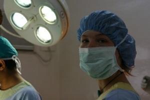Interna de odontología en consultorio en Nepal