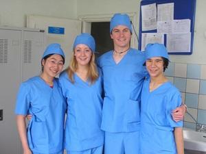 Grupo de voluntarios de medicina