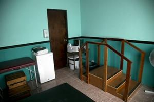 Una de las salas de fisioterapia en nuestro proyecto de Costa Rica