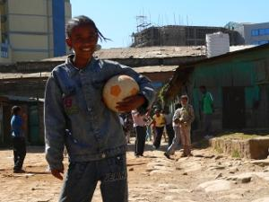 Sports volunteer in Ethiopia