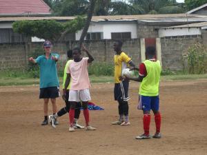 coaching soccer in Ghana